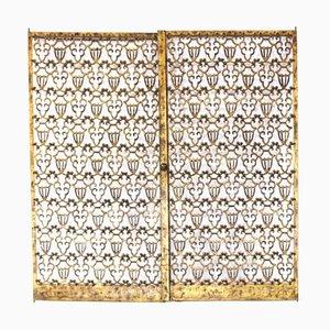 Türen aus Bronze von Raymond Subes, 2er Set