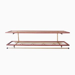 Mid-Century Metal and Teak Shelving Rack from Habo, 1960s
