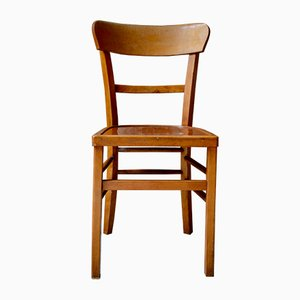 Beech Plywood Bistro Chairs from Luterma, 1950s, Set of 4