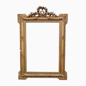 Antiker französischer vergoldeter Spiegel, 1890er