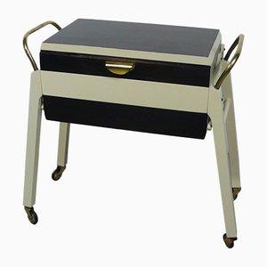 Mid-Century Walnut Sewing Box