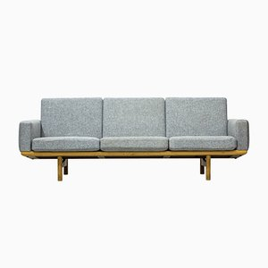Danish GE236 Wood & Wool Sofa by Hans J. Wegner for Getama, 1950s