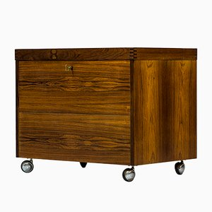 Norwegian Rosewood Mini Bar by Rolf Hesland for Haug Snekkeri, 1960s