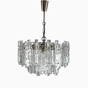 Ice Glass Chandelier by J.T. Kalmar for Kalmar Franken KG, 1960s