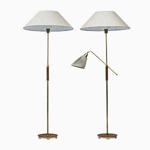 Lámparas de pie de Bertil Brisborg para Nordiska Kompaniet, años 50. Juego de 2