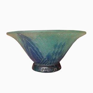 Vase Art Déco Antique en Verre par Amalric Walter, France, 1920s