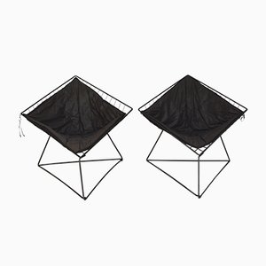 Sillones modelo OTI de acero de Niels Gammelgaard para Ikea, años 80. Juego de 2