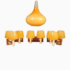 Juego de lámparas Mid-Century de E.Cooke para Cone Light Ltd, años 60