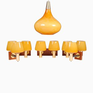 Set di lampade Mid-Century di E.Cooke per Cone Light Ltd, anni '60