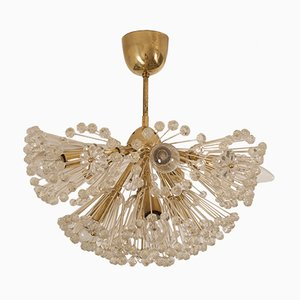 Brass Snowball Chandelier by Emil Stejnar for Rupert Nikoll, 1950s