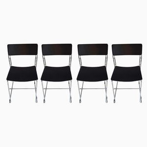 Italian Stackable Dining Chairs from Arrben, 1970s, Set of 4