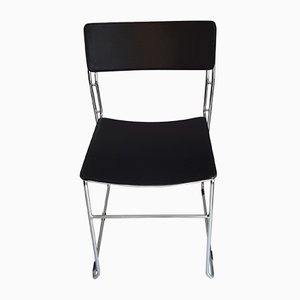 Italian Stackable Dining Chairs from Arrben, 1980s, Set of 4