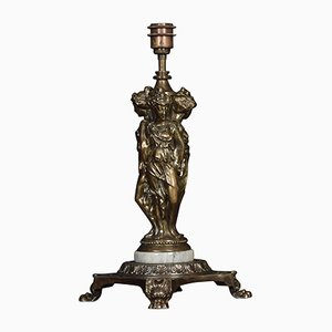 Antike skleroplastische Tischlampe