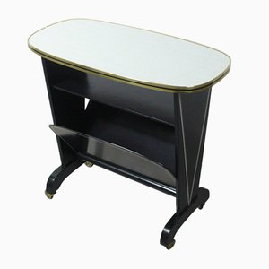 Mid-Century German Side Table with Magazine Rack, 1950s
