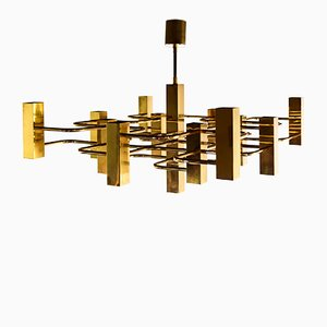 Metal Ceiling Lamp by Gaetano Sciolari for Boulanger, 1970s