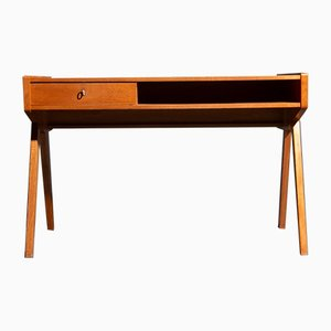 German Cherry Desk by Helmut Magg for WK Möbel, 1950s