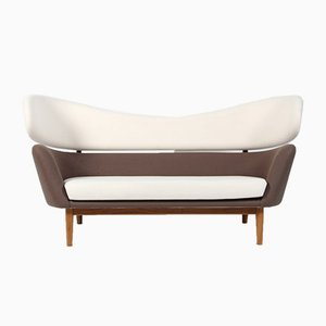 Danish Wool and Walnut Sofa by Finn Juhl for One Collection, 1988