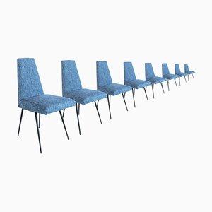 Italienische Stühle, 1950er, 8er Set