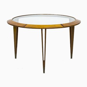 Beech and Brass Coffee Table by Bertil Fridhagen for Bodafors, 1940s