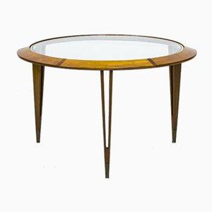 Tavolino da caffè in faggio e ottone di Bertil Fridhagen per Bodafors, anni '40
