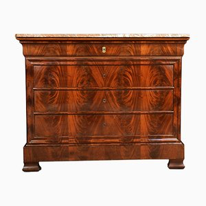 Antique Biedermeier Mahogany and Marble Dresser