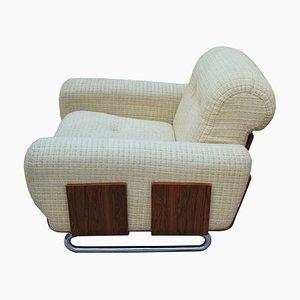 Sessel aus Chrom & Palisander, 1970er