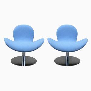 Moderne Sessel aus Chrom & Stoff von Geir Saetveit für Martela, 2000er, 2er Set