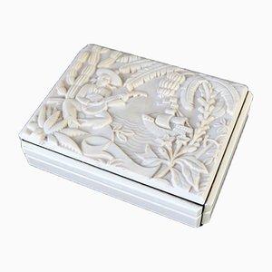 Art Deco Czech Pink Cigarette Box from Hoffman Glass Company