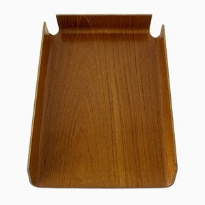 Mid-Century English Wooden Paper Tray from Mallod, 1970s
