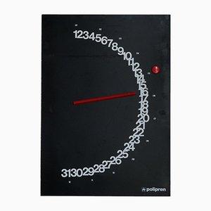 Ewiger Meridian Kalender von Giulio Confalonieri für Paolo Nava Milano, 1982
