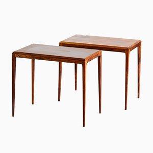Mesas de centro danesas vintage de palisandro de Johannes Andersen para CFC Silkeborg, años 60. Juego de 2
