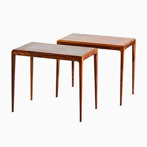 Vintage Danish Rosewood Coffee Tables by Johannes Andersen for CFC Silkeborg, 1960s, Set of 2