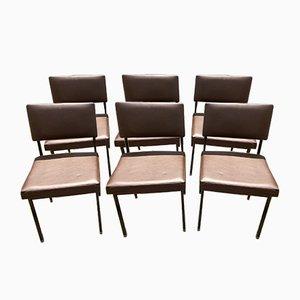 Italienische Mid-Century Esszimmerstühle aus Kunstleder von Castelli, 1960er, 6er Set