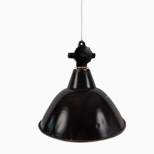 Vintage Industrial German Black Ceiling Lamp