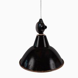 Mid-Century Industrial German Black Ceiling Lamp