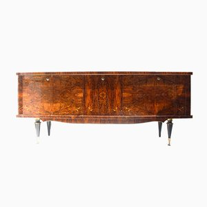 French Burl and Walnut Sideboard from R.Sire, 1940s