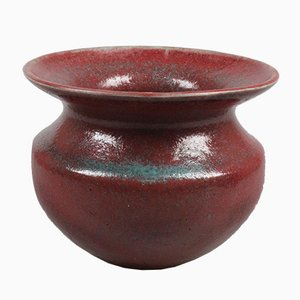Vintage Red Ceramic Vase by let Cool-Schoorl