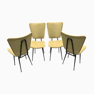 Mid-Century French Iron Dining Chairs, 1950s, Set of 4