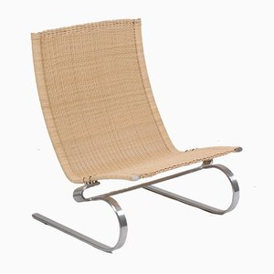 Danish Wicker Lounge Chair from Fritz Hansen, 1970s