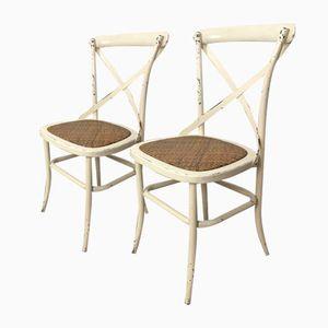Mid-Century Metal & Wood Garden Chairs, Set of 4