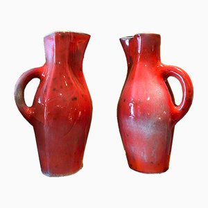 Ceramic Pitchers by Georges Jouve, 1950s, Set of 2