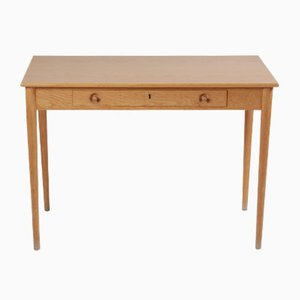 Danish Oak Worktable by Hans J. Wegner for Andreas Tuck, 1974
