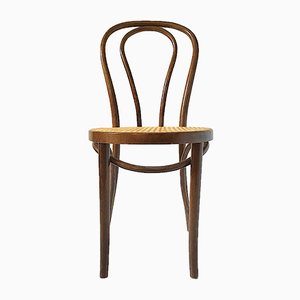 Nr.14 Stuhl aus Bugholz & Rattan von Thonet, 1930er