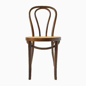 Nr.18 Stuhl aus Bugholz & Rattan von Thonet, 1930er