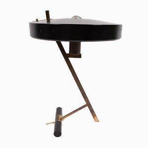 Lampada da tavolo in alluminio e ottone di Louis C. Kalff per Philips, anni '50