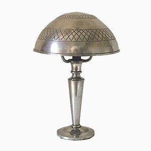 Portugiesische Vintage Art Deco Tischlampe aus Zinn, 1920er