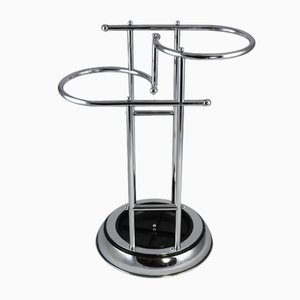Vintage Art Deco Bakelite and Chrome Plating Umbrella Stand