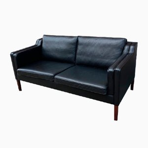 Vintage Danish Leather Sofa from Stouby, 2000s