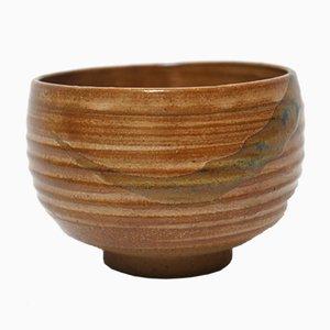 Japanese Natural Glaze Ceremonial Tea Bowl, 1920s