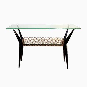 Mid-Century Italian Mahogany Console Table, 1950s